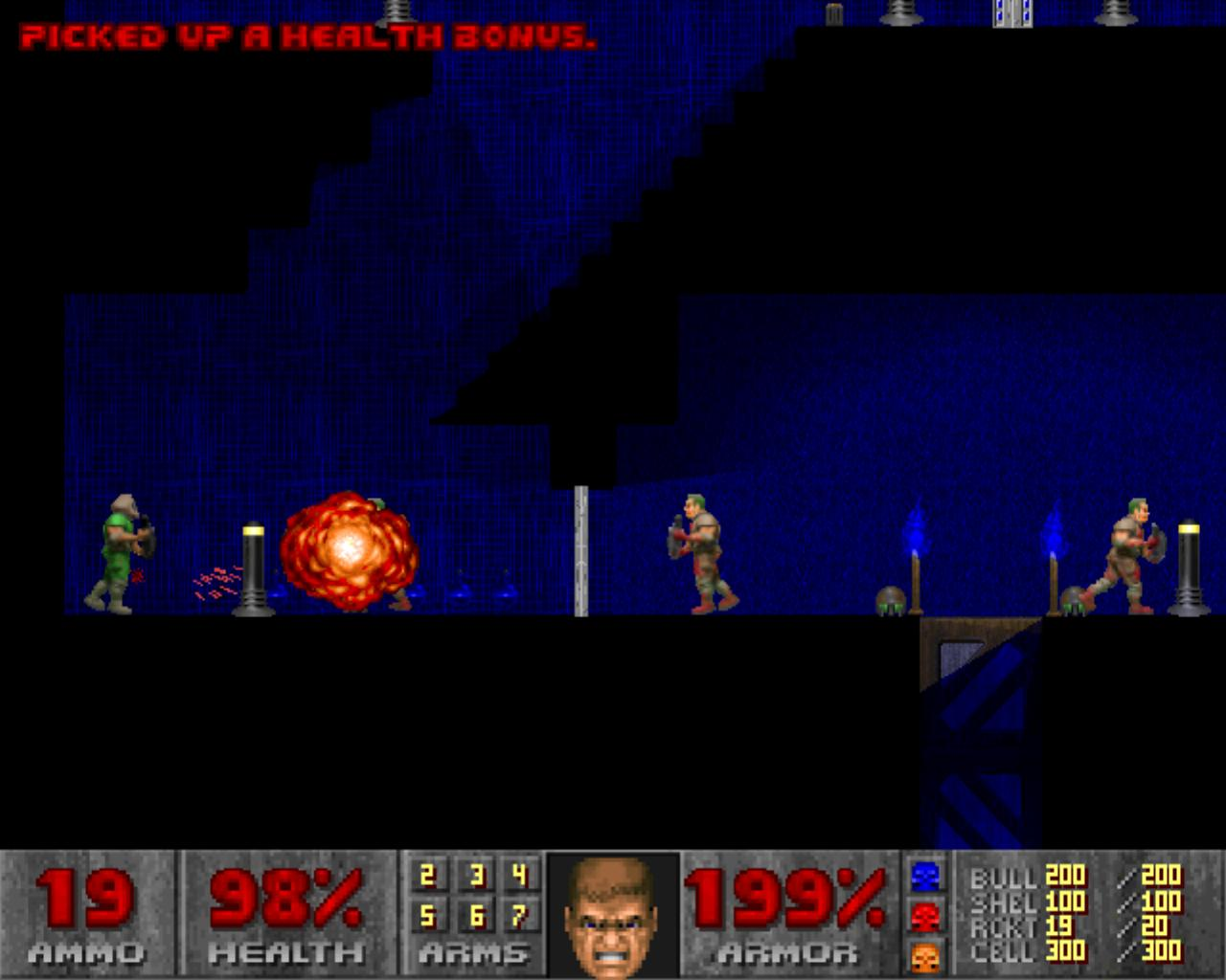 FREEWARE* Doom 2D - Doom without the 3rd dimension